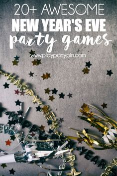 Celebrate the new year with all your friends and these New Year's Eve party game ideas. These New Year's Eve party games will make your New Year's party memorable because they're lots of fun! New Year's Eve Games For Family, New Year's Eve Games For Adults, New Years Eve Games, New Years Eve Day, Games For Teens, New Years Party, New Years Eve Party Ideas For Family, Party Games For Adults, Family Games