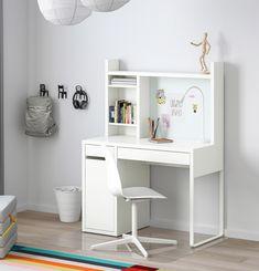 Desk For Girls Room, Small Room Desk, Desks For Small Spaces, Desks For Girls, Small Kids Desk, Kids Desk Space, Teen Girl Desk, Ikea Small Desk, Kids Corner Desk
