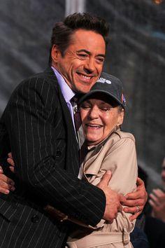 Robert Downey Jr. and his mom, Elsie.