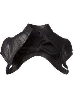 MAJESTY BLACK - Structured Leather Belero Vest - BALERO VEST BLACK - H.  Lorenzo Korzety 62dd87d2eb6
