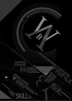 CV   #Resume #Inspiration #Typography