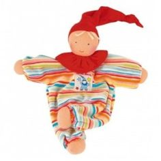 Amazon.com: Kathe Kruse Waldorf Gugguli Doll, Striped: Baby