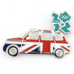 Price: $9.99 - 2012 Olympics London Union Jack Taxi Pin - TO ORDER, CLICK ON PHOTO