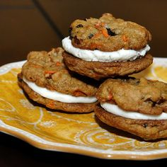 Carrot Cake Cookies - delicious alone or sandwiched together with cream cheese frosting.