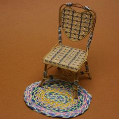 Braid Easy Rugs for a Dollhouse From Embroidery Floss: Make Dolls House Braided Rugs From Embroidery Floss