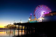 Santa Monica Pier - one of LA's best sightseeing spots is absolutely free to enter and enjoy!