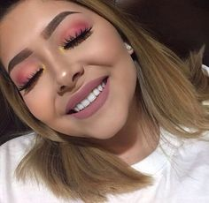 Pink eyeshadow and matte pink lips Makeup Goals, Makeup Inspo, Makeup Inspiration, Makeup Tips, Beauty Makeup, Hair Beauty, Makeup Ideas, Makeup Geek, Makeup On Fleek