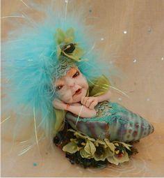 Blue Belle Sea Nymph Mermaid OOAK Fairy Sculpture Art Doll Fairies NEW  #handmade http://www.ebay.com/itm/-/151932726668?