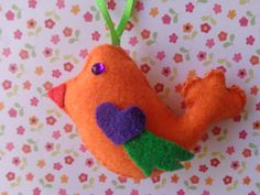Sunshine Bird Ornament by Pepperland on Etsy, $6.00