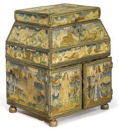 CHARLES II NEEDLEWORK CASKET, THIRD QUARTER 17TH CENTURY | lot | Sotheby's