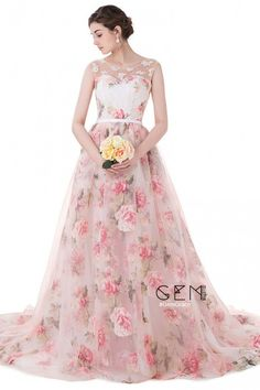 Only $179.99, Prom Dresses Floral Long Train Length Sleeveless Formal Party Dress #ID0091 at #GemGrace. View more special Prom Dresses,Evening Dresses now? GemGrace is a solution for those who want to buy delicate gowns with affordable prices, a solution for those who have unique ideas about their gowns. Find out more>>