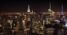 New York City lights by Angelo Knf (Konofaos) on 500px  #angeloknf #sky #manhattan #newyork #nyc #skyscrapers #midtown #city #urban #photo #photography #image #empirestate #topoftherock #view #cityscape #night #citylights