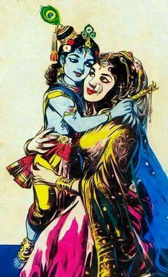 Lord Krishna and Mother Yashoda Krishna Lila, Little Krishna, Baby Krishna, Cute Krishna, Radha Krishna Wallpaper, Radha Krishna Images, Lord Krishna Images, Krishna Art, Krishna Drawing