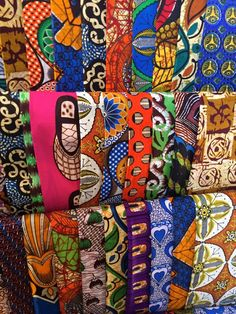 Beautiful chitenge fabric at Maramba Market, Livingstone. How to solo travel in Livingstone, Zambia to see Victoria Falls!