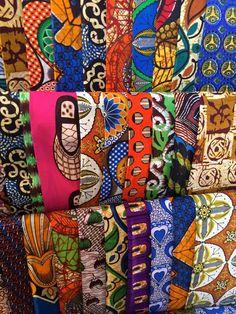 Beautiful chitenge fabric at Maramba Market, Livingstone. How to solo travel in Livingstone, Zambia to see Victoria Falls!