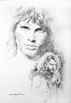 #Jim_Morrison by David lloyd Glover Thanks for inviting me I tough this is an Art Board ??????