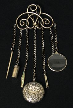 19th Century French Sterling Chatelaine.