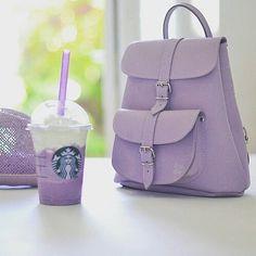 Imagem de starbucks, purple, and bag