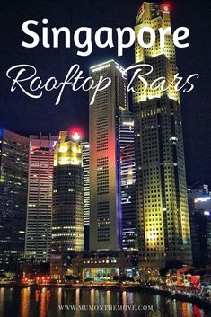 If you are planning your Singapore trip, you need to add a visit to a roof bar to your itinerary! The roof bars in Singapore offer amazing views and are an essential part of Singapore nightlife. Add one of these fabulous rooftop bars to your bucket list! Singapore Bar, Singapore With Kids, Singapore Travel Tips, Singapore Itinerary, Rooftop Bar Bangkok, Best Rooftop Bars, Rooftop Restaurant, China Travel, Japan Travel