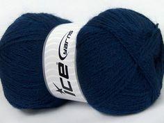Angora Yarn Navy Blue, Ice Yarns Brand Firenze Angora, Angora blend yarn, 574 yards per skein, #36459 - pinned by pin4etsy.com