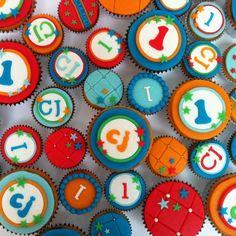 Vrolijke jongens cupcakes