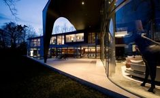 Dramatic house complex in minimalist style This spectacular complex by SAOTA Architecture is located on the shores of lake Geneva. It consists ...