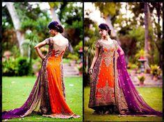 Purple & Orange wedding inspiration from Facebook