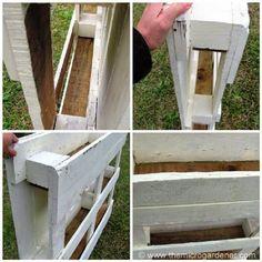 Mueblesdepalets.net: Instrucciones para hacer una valla-jardinera de palets para vuestro jardín