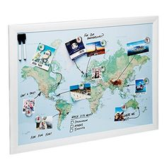 World pinboard wall map 90cm x 60cm real pine wood frame with easy world pinboard wall map 90cm x 60cm real pine wood frame with easy hang 3m command hook and twelve flag pins cute things pinterest flag pins gumiabroncs Gallery