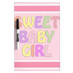 Baby Girl Dry Erase Whiteboards  #Baby #Girl #Whiteboard