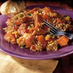 Old El Paso® Salsa and rice provides a simple addition to this turkey kielbasa sausage and chicken jambalaya - a hearty dinner Chicken Jambalaya, Sausage Jambalaya, Jambalaya Recipe, Caveman Food, Vegetable Rice, Dinners To Make, Easy Dinners, Smoked Pork, Rice Dishes