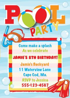 Boy Pool Party Invitations Under Fontanacountryinn Com