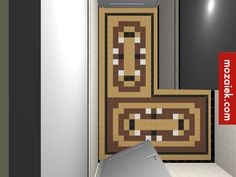 vloer entree authentieke tegels Bathroom By Monique Mozaiek(mozaiek.com) on…