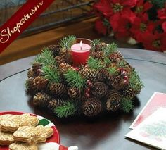 40-Awesome-Pinecone-Decorations-For-the-holidays-12.jpg (570×515)