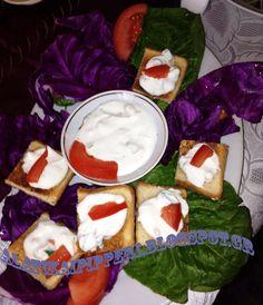 Καναπεδάκια με σως γιαουρτιού - Αλάτι και πιπέρι Camembert Cheese, Dairy, Cooking, Food, Kitchen, Eten, Meals, Cuisine, Diet