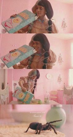 That one moment where crybaby was getting cereal. Melanie Martinez Poster, Melanie Martinez Pictures, Crybaby Melanie Martinez, Cry Baby, Adele, She Song, Crazy People, Queen, Music Artists