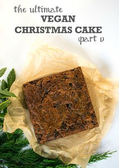 A rich, moist and boozy fruit cake has to be the Ultimate Vegan Christmas Cake - so simple to make and incredibly tasty, make it today!