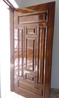 House Main Door Design, Wooden Front Door Design, Pooja Room Door Design, Wood Front Doors, Modern Wooden Doors, Modern Door, Showroom Interior Design, Decoration, Wood Interior Doors