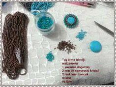 Çiçek bileklik yapımı / takı tasarımları / Jewelry hanmade - YouTube