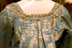 Robe à la Francaise of blue and silver lampas, 1760/70
