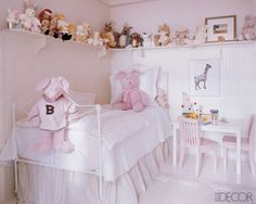 Cozy Neutral Pinky Little Girl Bedroom..Discover more decor and organizing ideas for babies to teens @ http://kidsroomdecorating.net