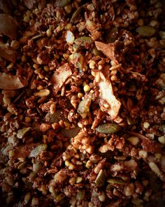 Coconut and chocolate granola. Gluten free, grain free, sweet and salty, delicious ;) @ mytinugreenkitchen.com