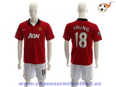 Manchester United Maillot Young 18 Domicile 2013-2014 FT710