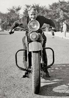 Sally Halterman, the first woman granted a license to operate a motorcycle in Washington, D.C., 1937