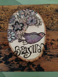 Wood burn&color stain