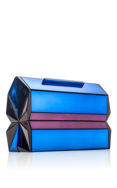 Sapphire Classic Faceted Clutch by Rauwolf for Preorder on Moda Operandi
