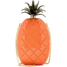 Valentino mytheresa.com Online Exclusive Pineapple Box Clutch (153,940 PHP) ❤ liked on Polyvore featuring bags, handbags, clutches, orange, box clutch, red box clutch, valentino purses, orange handbags and valentino handbags