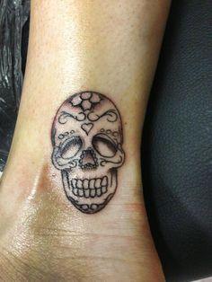 Sugar skull tattoo my daughter and I got!!