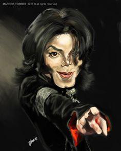 Michael jackso... Caricature Of Michael Jackson .
