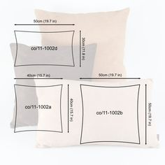 What size pillow insert you need for your pillow cover, decorative pillows Sewing Pillows, Diy Pillows, Decorative Pillows, Throw Pillows, Bed Covers, Pillow Covers, Fall Living Room, Cheap Carpet Runners, Sewing Techniques